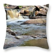Flowing Over The Rocks Throw Pillow