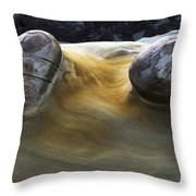 Flowing Rock 4 Throw Pillow