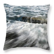 Flowing Sea Waves Throw Pillow