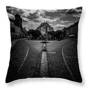 Flowing Street Of Kosice Throw Pillow