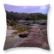 Flowing Through Time Throw Pillow