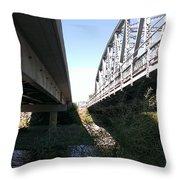 Flowing Under The Bridges Throw Pillow
