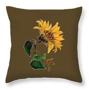 Flower Power T-shirt Throw Pillow