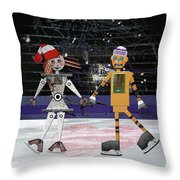 Floyd And Zoe's Skate Date Throw Pillow