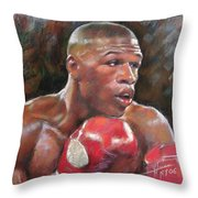 Floyd Mayweather Jr Throw Pillow by Ylli Haruni