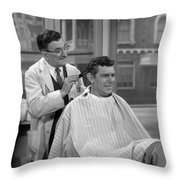 Floyds Barbar Shop Andy Griffith Show Throw Pillow