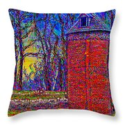 Floyd,virginia Tower Throw Pillow