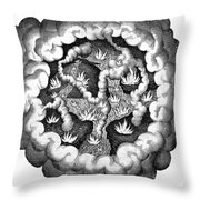 Fludds Primordial Fires, 1617 Throw Pillow