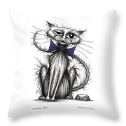 Fluffy Cat Throw Pillow