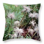 Fluffy Flowers Throw Pillow