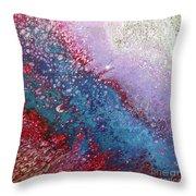 Fluid Acrylic Art Throw Pillow