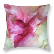 Fluid Rose Throw Pillow