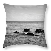 Fluid Solitude Throw Pillow