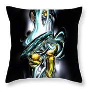Fluidity Abstract Throw Pillow