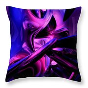 Fluorescent Passions Abstract Throw Pillow