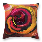 Fluorescent Rose Throw Pillow