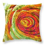 Fluorescent Wormhole Throw Pillow