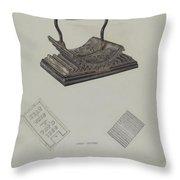 Fluting Iron Throw Pillow