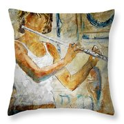 Flutist Throw Pillow