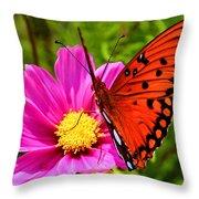 Fritillary Flutterby Throw Pillow