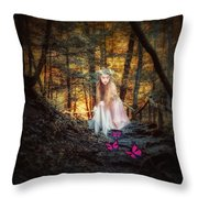 Flutterby Trail Throw Pillow