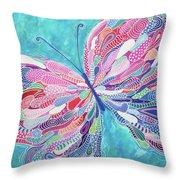 Fluttering Jewel Throw Pillow