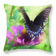 Fluttering Wings Of The Butterfly Throw Pillow