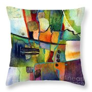 Fluvial  Mosaic Throw Pillow