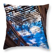 Flux Night Papers Throw Pillow