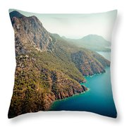 Fly Above Laguna Seascape Artmif.lv Throw Pillow