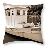 Fly Creek Work Boat Throw Pillow