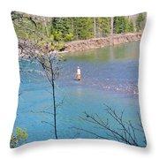 Fly Fisherman Throw Pillow