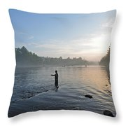 Fly Fishing 2 Throw Pillow