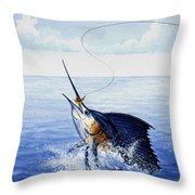 Fly Fishing For Sailfish Throw Pillow