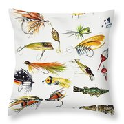 Fly Fishing I Throw Pillow