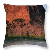 Fly Fishing On The Madison River Throw Pillow
