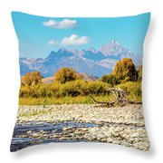 Fly Fishing Paradise Throw Pillow