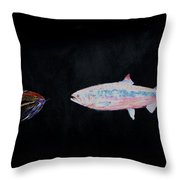 Fly Fishing Two Throw Pillow