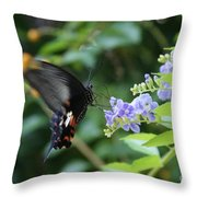 Fly In Butterfly Throw Pillow