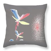 Fly In The Wing Throw Pillow