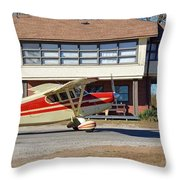 Fly In To The Beaumont Hotel And Cafe Throw Pillow