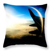 Fly Like A Dolphin Throw Pillow