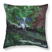 Fly Me Away To Little River Throw Pillow