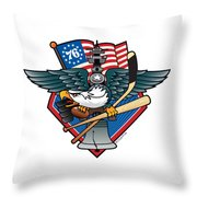 Fly. Philly, Fly, Crest Throw Pillow