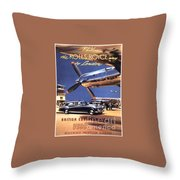 Fly The Rolls Royce Way To London Throw Pillow