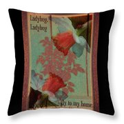 Fly To My Home Throw Pillow