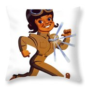 Fly - Us Army Air Forces Throw Pillow