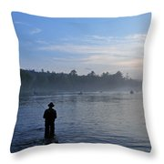Flyfishing In Maine Throw Pillow