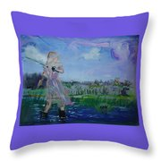 Flyfishing Throw Pillow