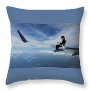 Flying 3rd Class Throw Pillow
